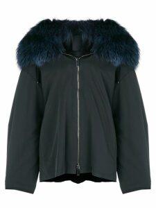 Liska fur hooded coat - Blue