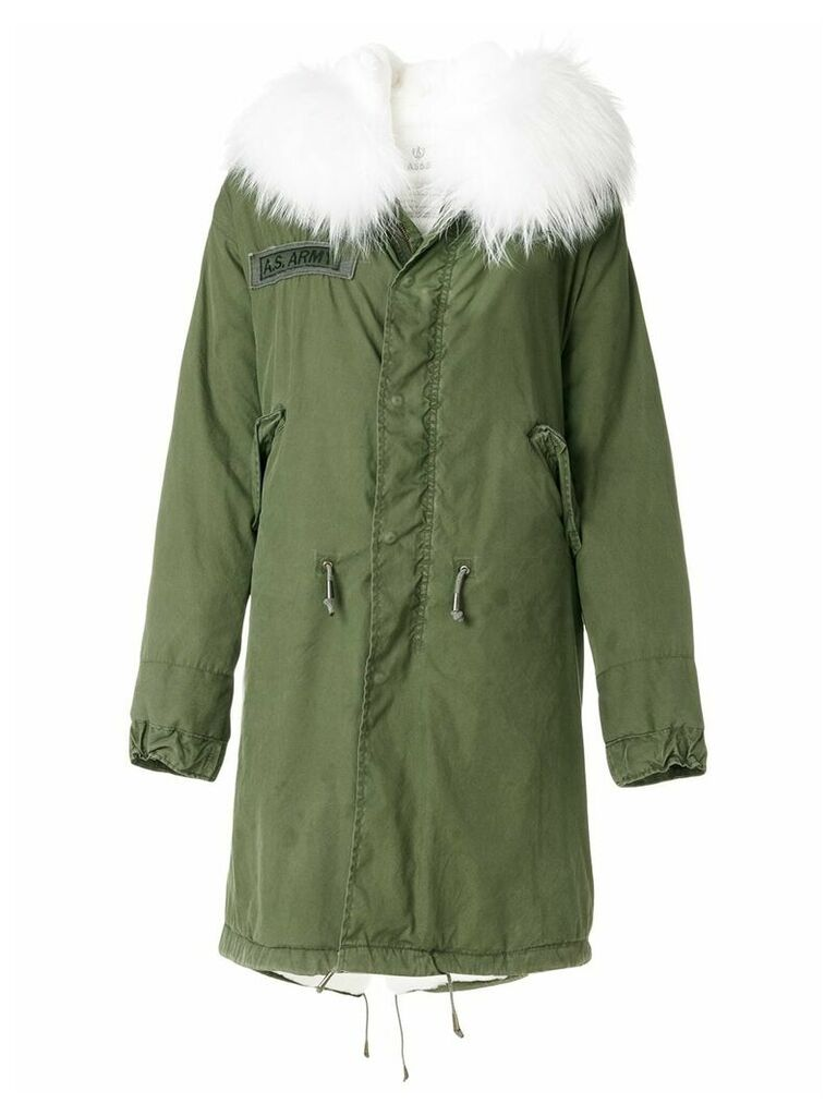 As65 hooded parka - Green