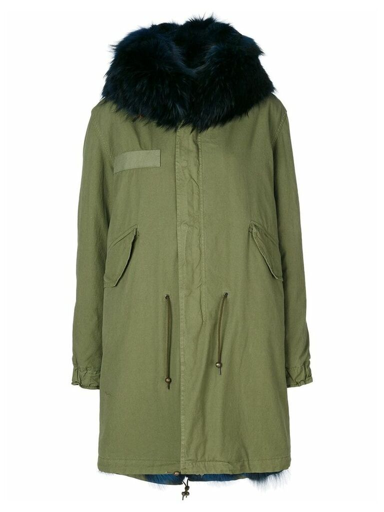 Mr & Mrs Italy trimmed hood mid parka - Green