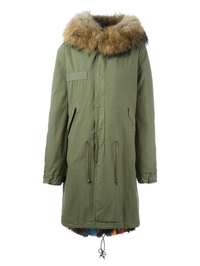 Mr & Mrs Italy fur lined mid parka - Green