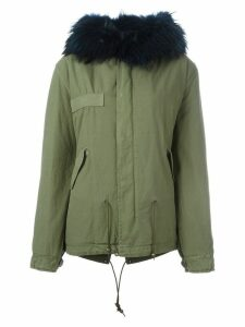 Mr & Mrs Italy raccoon fur hooded parka - Green