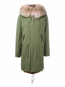 Mr & Mrs Italy trimmed hood mid parka - Pink