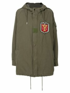 Saint Laurent hooded military parka coat - Green