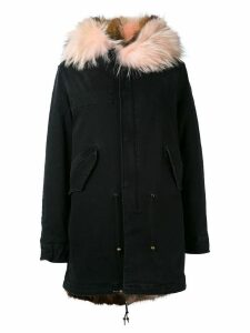 Mr & Mrs Italy denim mid parka - Black