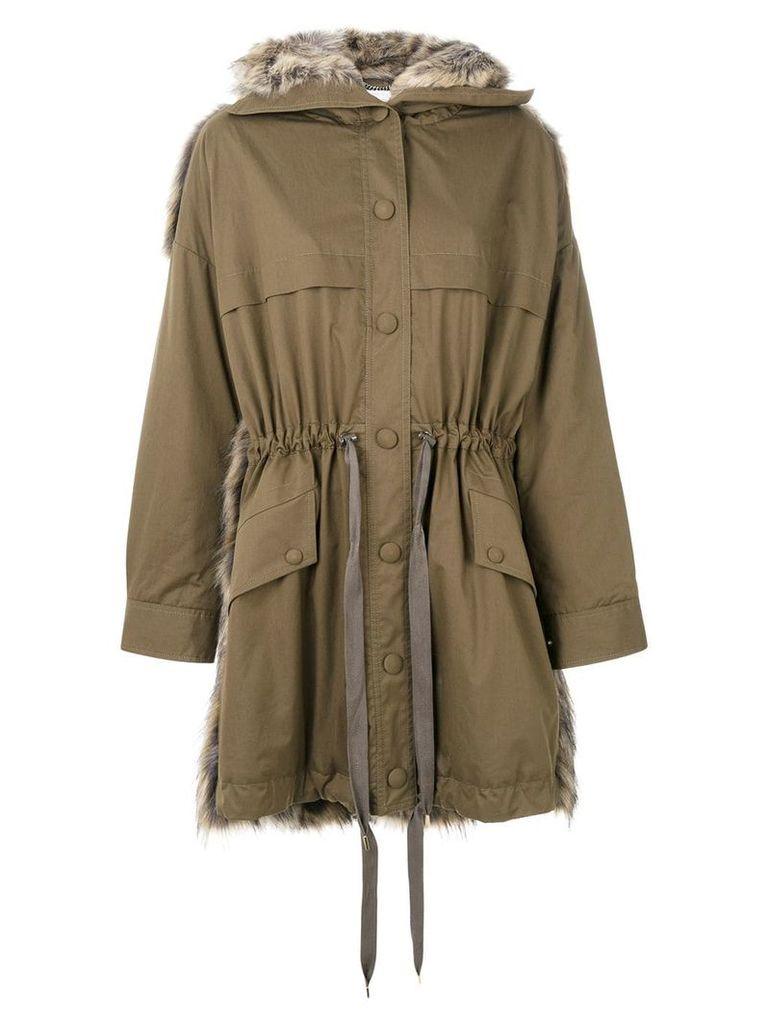 Stella McCartney Fur Free Fur parka - Brown