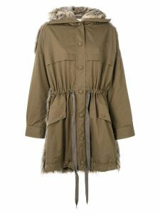 Stella McCartney Fur Free Fur parka - Brown