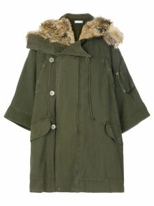 Faith Connexion fur trim parka - Green