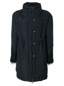 Ermanno Scervino appliqué parka coat - Black