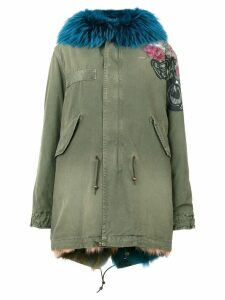 Mr & Mrs Italy embroidered parka jacket - Green