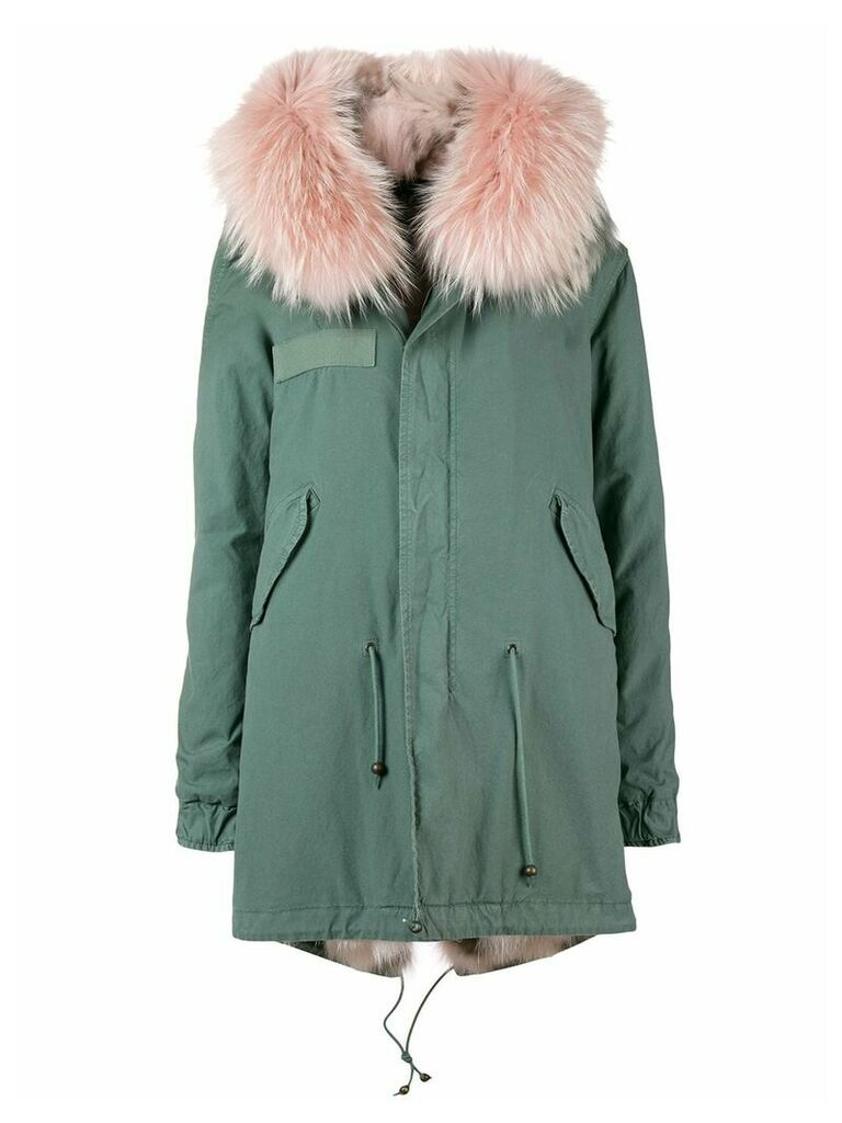 Mr & Mrs Italy short hooded parka coat - Green