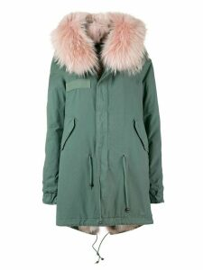 Mr & Mrs Italy short hooded parka coat - Green