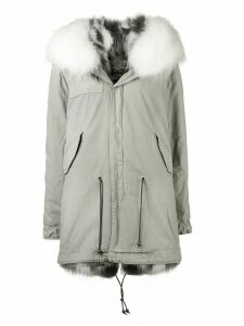 Mr & Mrs Italy Fur collar parka coat - Green