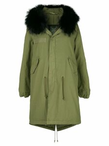 Mr & Mrs Italy fur-trim parka coat - Green