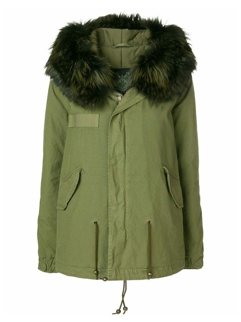 Mr & Mrs Italy fur trimmed hooded parka - Green