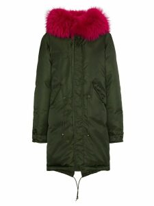 Mr & Mrs Italy fur trimmed parka - Green