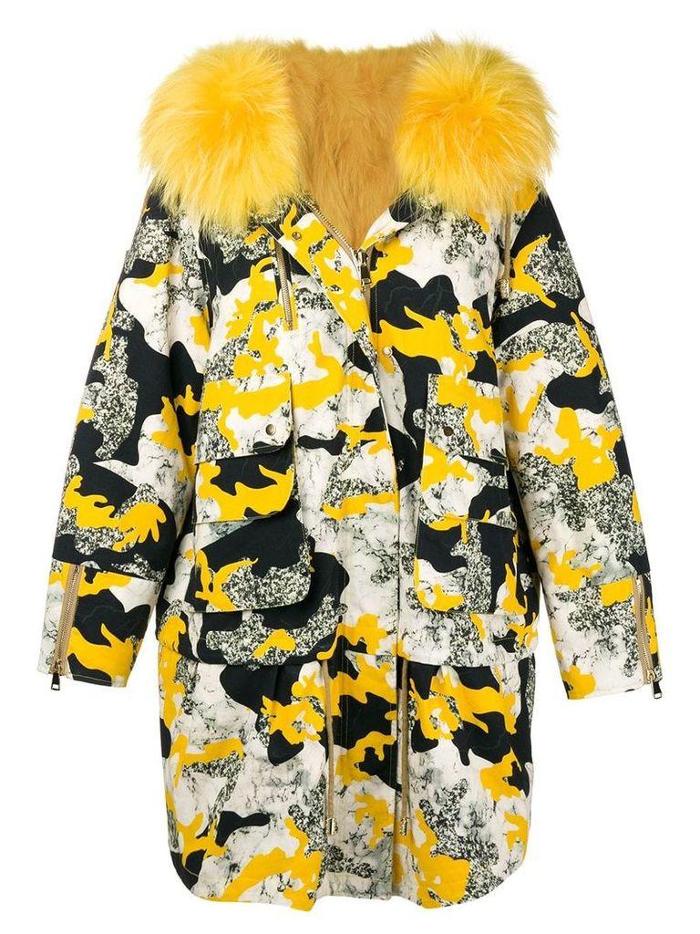 Liska padded camouflage parka - Yellow