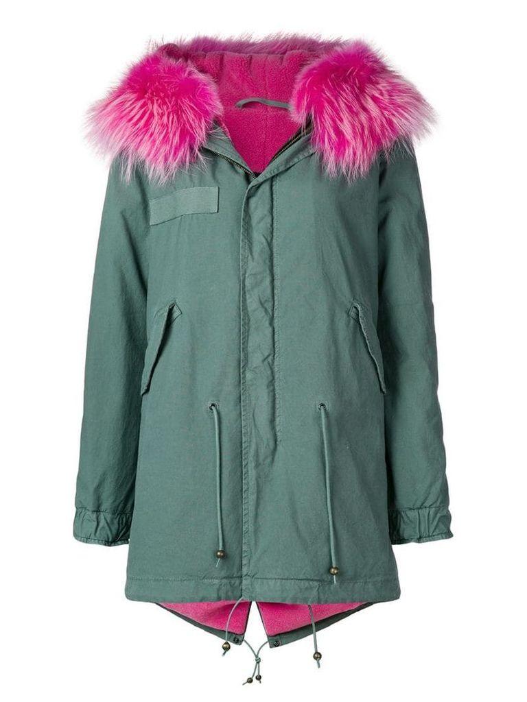 Mr & Mrs Italy fur-trim parka coat - Green