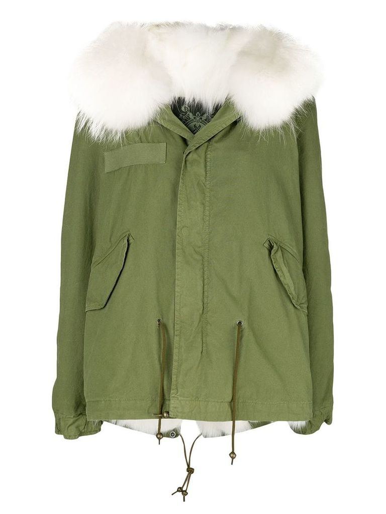 Mr & Mrs Italy fur hood short parka coat - Green