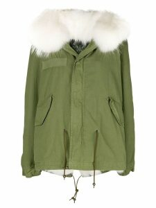 Mr & Mrs Italy fur hood short parka coat - Green