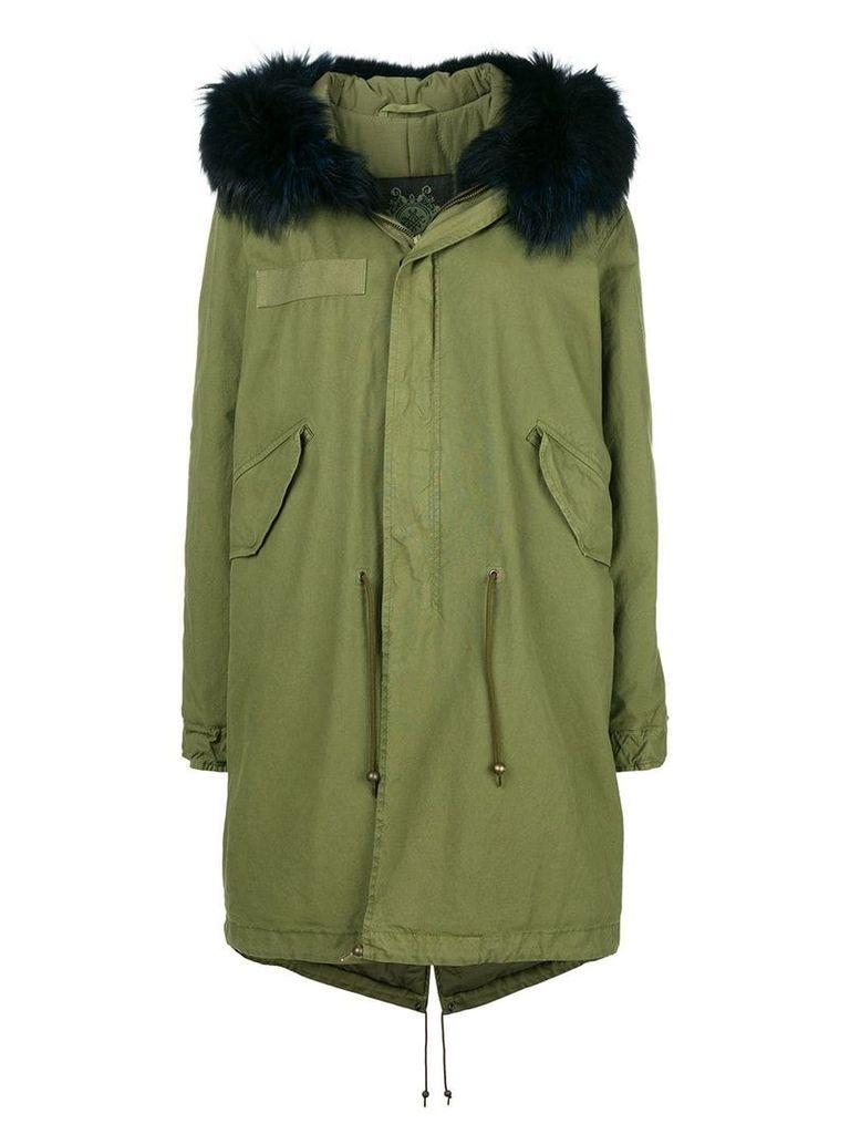 Mr & Mrs Italy fur collar parka coat - Green