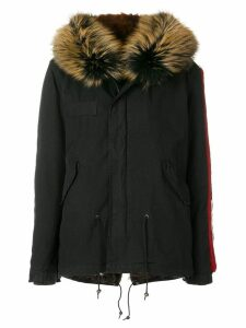 Mr & Mrs Italy embroidered mini parka coat - Black