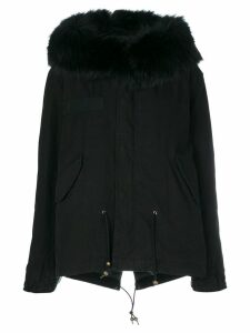 Mr & Mrs Italy trimmed hood short parka - Black