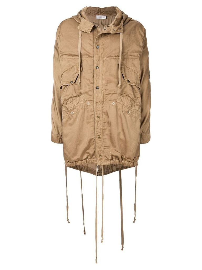 Faith Connexion casual worn-effect coat - Beige