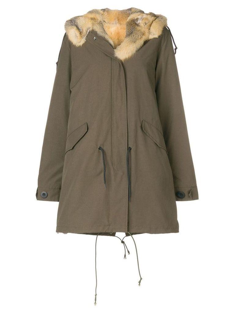Liska fur hooded parka - Green