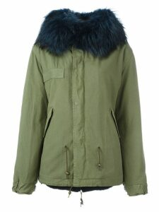 Mr & Mrs Italy fur trim midi parka - Green