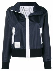 Thom Browne zipped parka - Blue