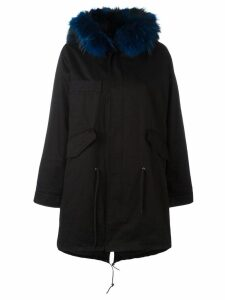 Liska fur trim parka - Black