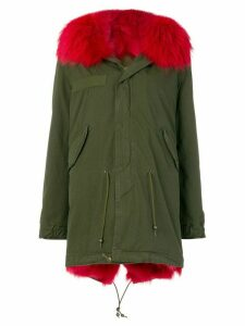 Mr & Mrs Italy trimmed hood midi parka - Green