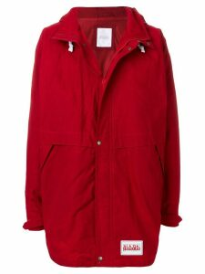 Napa By Martine Rose hooded button coat - Red