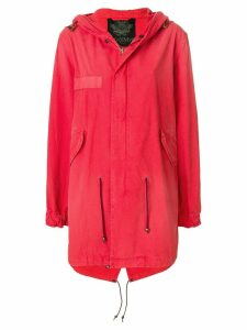 Mr & Mrs Italy tropical print parka coat - Red