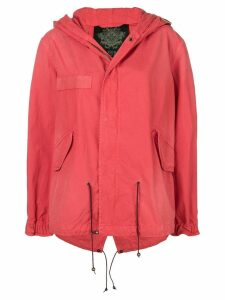 Mr & Mrs Italy short hooded parka - Red