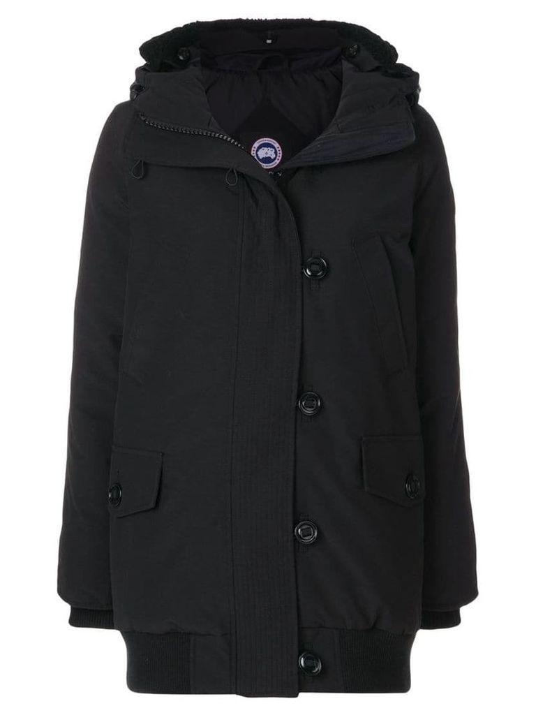 Canada Goose padded hooded parka - Black
