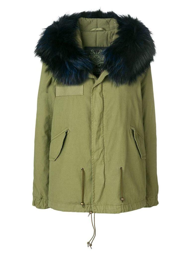 Mr & Mrs Italy hooded fur trim parka - Green