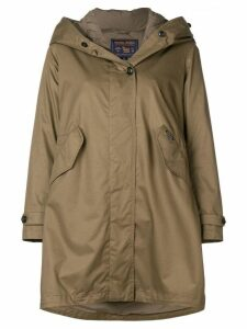 Woolrich hooded layered parka - Brown