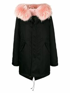 Mr & Mrs Italy trimmed hood parka - Black