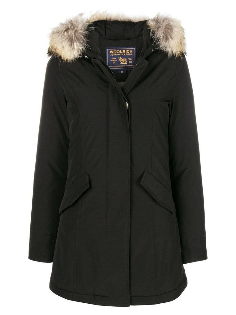 Woolrich fur raincoat - Black