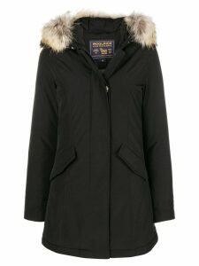 Woolrich fur raincoat - Black