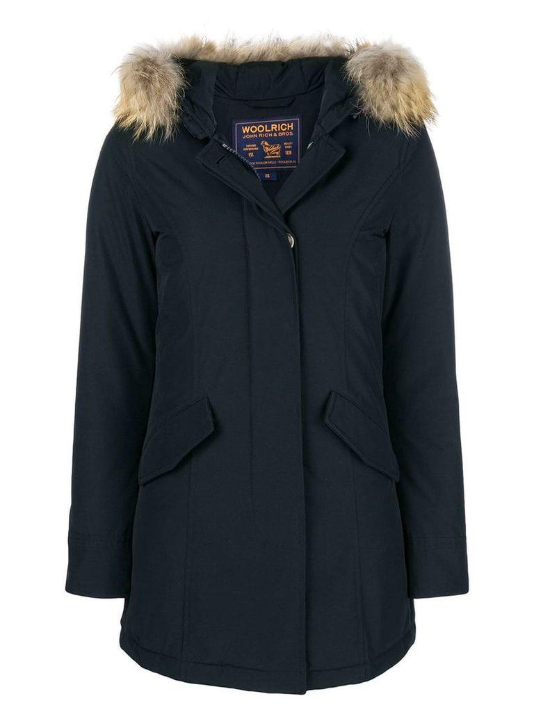 Woolrich fur raincoat - Blue