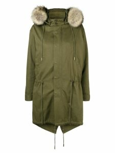 Saint Laurent drawstring waist parka - Green