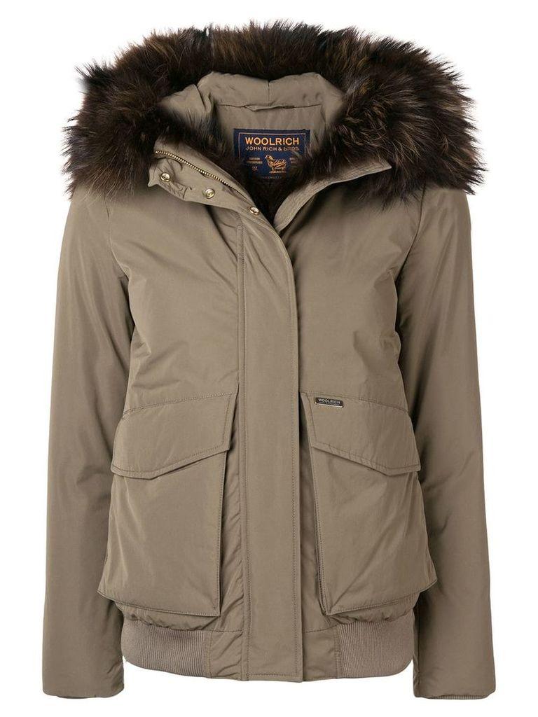Woolrich fur trim coat - Green