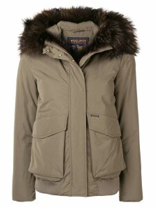 Woolrich fur trim coat - Green