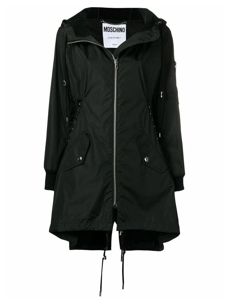 Moschino oversized hooded parka - Black
