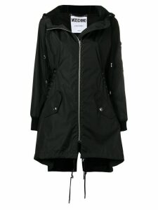 Moschino oversized hooded parka - Black