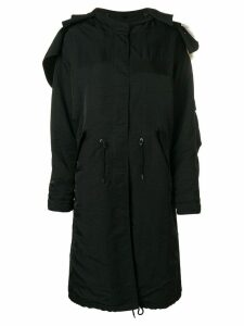 Givenchy oversized parka coat - Black