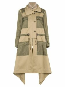 Chloé Parka with Asymmetric Hem - Brown