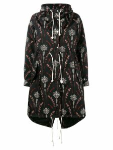 Creatures Of The Wind printed nylon parka - Black